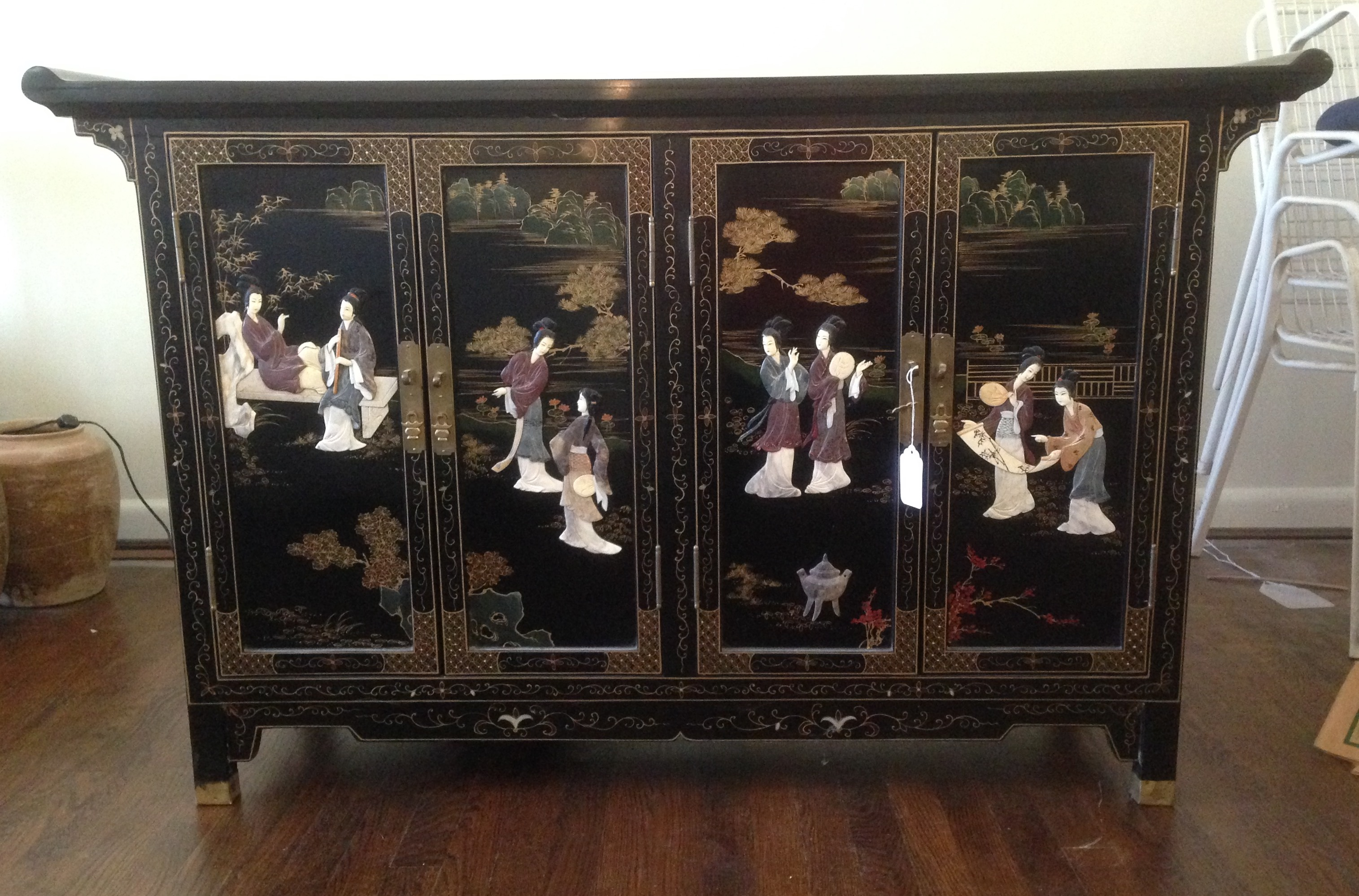 Asian decorative arts mid century at bethesda estate sale for Oriental furniture for sale