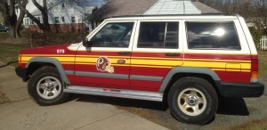 Redskins Jeep for sale
