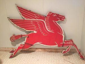 Vintage Mobilgas Pegasus Sign Flies to Auction Blocks