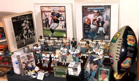 Dallas Cowboys Memorabilia and Baseball Treasures Hit Home