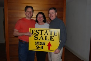 Marianne and Mike Francis (center, right) with Chris Lancette (left).