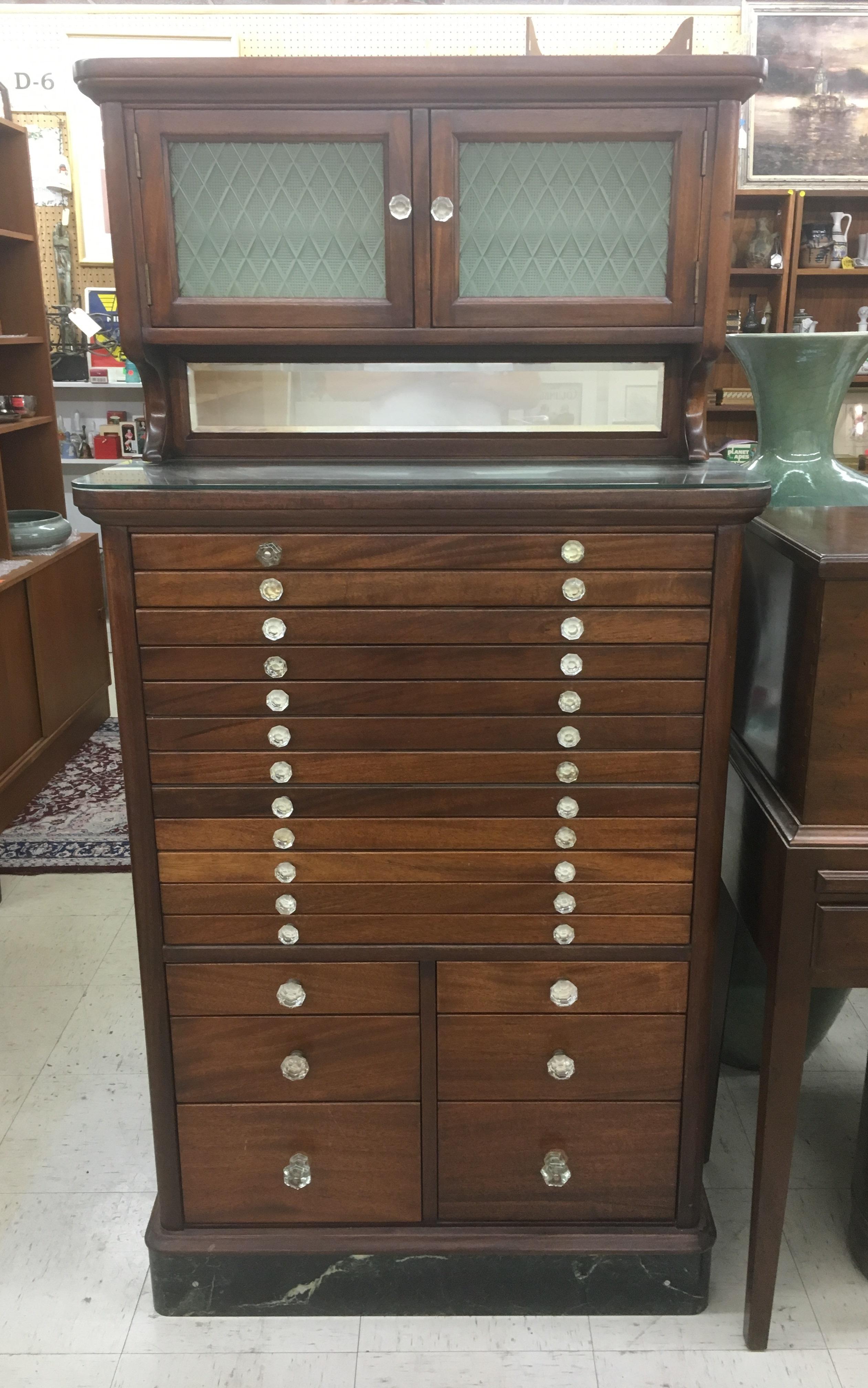 Antique Dental Cabinet For